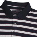 FRENCH CONNECTION Mens Mod Melange Stripe Polo Top
