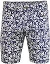 gabicci vintage dalveen paisley print shorts navy