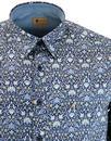 Maddox GABICCI VINTAGE Retro Mod 60s Floral Shirt