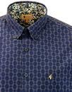 Newcross GABICCI VINTAGE 60s Tonal Pattern Shirt N