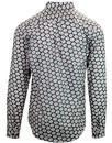 Rama GABICCI VINTAGE Retro Mod Floral Shirt CLAY