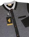 GABICCI VINTAGE 2-Tone Retro Mod Polo Cardigan