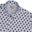 Garum GABICCI VINTAGE Retro 70s Mod Floral Shirt