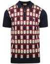 gabicci vintage krypton retro mod check knit polo