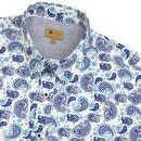 Westley GABICCI VINTAGE Retro Mod Paisley Shirt