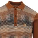 Matrix GABICCI VINTAGE POW Check Knit Polo Top (H)