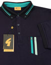 Dane GABICCI VINTAGE Retro Mod Stripe Pocket Polo