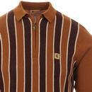 Touch GABICCI VINTAGE Mod Stripe Knit Polo (H)