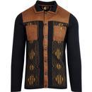 gabicci vintage winston limited edition jacquard cardigan black