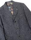 Grouse GIBSON LONDON Mod Denim Linen Blazer Jacket