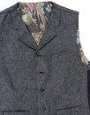 GIBSON LONDON Denim Linen Blazer & Waistcoat