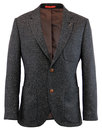 GIBSON LONDON Retro 60s Mod Charcoal Donegal Suit