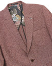 GIBSON LONDON Mod Herringbone Donegal Blazer RED