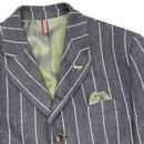 Grouse GIBSON LONDON 60s Mod Wide Stripe Blazer