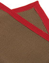 GIBSON LONDON Mod Knitted Pocket Square BROWN/RED
