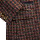 GIBSON LONDON Check Retro Teddy Boy Jacket RED