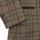 Grouse GIBSON LONDON Cord Collar Check Blazer SAGE