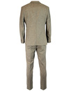 GIBSON LONDON Retro 60s Mod Sand Donegal Suit