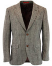 gibson london retro 60s mod pow check suit jacket