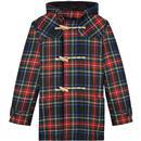 gloverall X lochcarron check duffle coat Stewart black