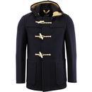 gloverall mid monty retro 60s mod duffle coat navy