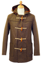 GLOVERALL DUFFLE COAT BROWN RETRO MOD INDIE COATS
