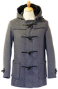 GLOVERALL DUFFLE COAT GREY RETRO MOD INDIE COATS