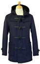GLOVERALL DUFFLE COAT NAVY MID MELTON RETRO COAT
