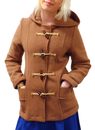 GLOVERALL WOMENS FREDA MONTY DUFFLE COAT TAN