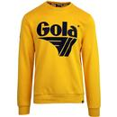 gola retro 80's bell sweater jumper golden yellow