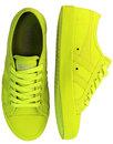Coaster Neon GOLA Retro Canvas Trainers - Yellow