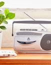GPO RETRO 9401 1980s AM/FM Radio Cassette Recorder