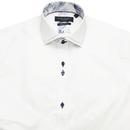 GUIDE LONDON Mod Micro Dash Stitch Collar Shirt W