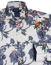 GUIDE LONDON Retro Mod Floral Bird Print Shirt
