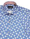 GUIDE LONDON 1960s Mod SS Floral Dot Print Shirt