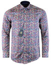 guide london retro 1960s mod neon paisley shirt