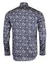 GUIDE LONDON Mod Floral Paisley Big Collar Shirt