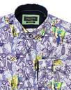 GUIDE LONDON Men's Retro Mod Elephant Floral Shirt