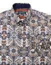 GUIDE LONDON Men's 60s Mod Ornate Paisley Shirt