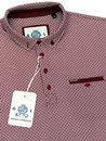 GUIDE LONDON Geo Tile Print Retro Mod Polo Shirt