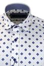 GUIDE LONDON Retro Mod Tile Polka Dot Oxford Shirt