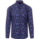 guide london mens bold jellyfish print long sleeve shirt purple black