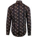 GUIDE LONDON Retro Blossom Sateen Dress Shirt