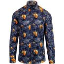 guide london shirt floral fox navy