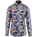 guide london shirt floral fox white