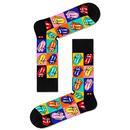 Happy Socks x The Rolling Stones Jumpin Jack Flash Pop Art Licks Socks