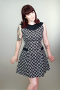 Doreen HEARTBREAKER Retro 60s Mod Shift Dress