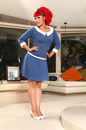 HEARTBREAKER HAUTE MADELINE RETRO DRESS MOD DRESS