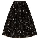 Hell Bunny Retro Vintage Cosmic Love Star Skirt