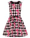 Harlequin HELL BUNNY Retro Diamond Mod Mini Dress